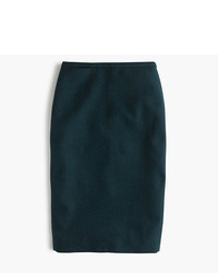 J.Crew Pencil Skirt In Double Serge Wool