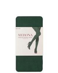 Commonwealth Merona Premium Control Top Opaque Tights Green Marker Sm