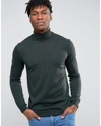 Asos Roll Neck Sweater In Merino Wool