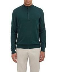 Piattelli Cashmere Half Zip Sweater Green Size Extra Extra Large