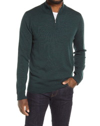 Nordstrom Men's Shop Nordstrom Merino Quarter Zip Sweater