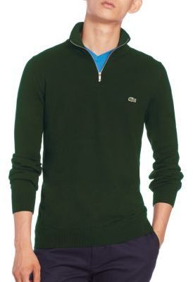 Lacoste Quarter Zip Cotton Sweater | Where to buy & how to wear
