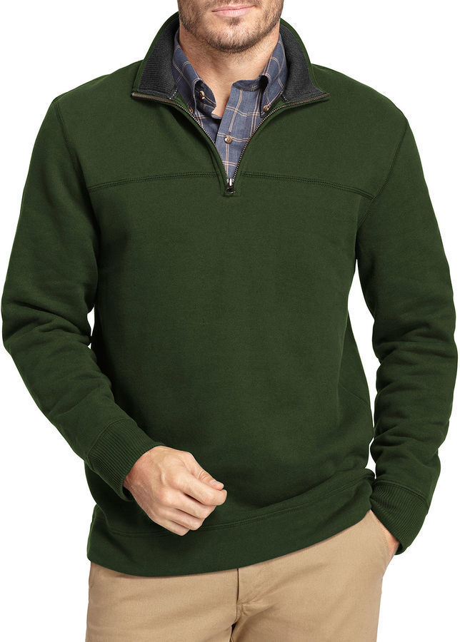 Arrow Sueded Fleece Quarter Zip Pullover | Where to buy & how to wear