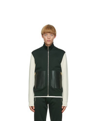 Paul Smith Green And Off White Contrast Track Jacket