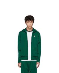 adidas Originals Green Firebird Zip Up Sweater