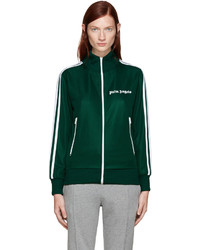 Palm Angels Green Track Zip Up Sweater