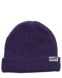 Neff Fold Ski Snowboard Beanie Purple