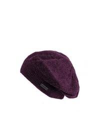 Kangol hats kangol comfort knit beret mulberry medium 342276