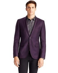 Men's Dark Purple Blazers by Hugo Boss | Men's Fashion