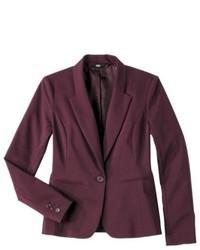 Mossimo Petites Doubleweave Blazer Purple Lp
