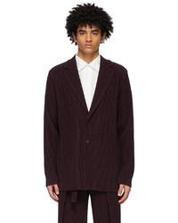Homme Plissé Issey Miyake Purple Tailored Pleats 1 Blazer