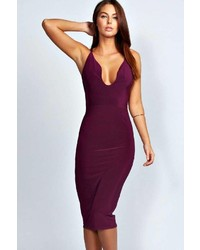 Dark Purple Bodycon Dress