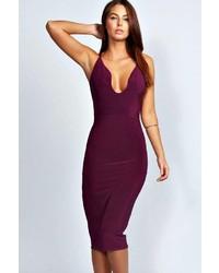 Dark purple bodycon dress original 9508273