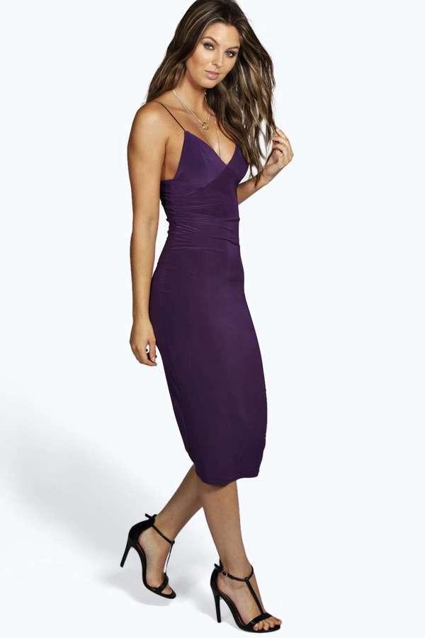 1d52068b00e3 ... Purple Bodycon Dresses Boohoo Karen Slinky Bodycon Midi Dress ...