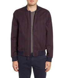 Bonobos Boulevard Slim Fit Stripe Bomber Jacket