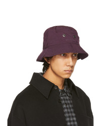 Acne Studios Purple Nylon Bucket Hat
