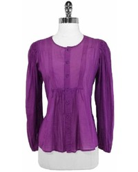 See by Chloe 100% Cotton Purple Blouse
