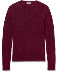 Valentino Cable Knit Mohair Blend Sweater