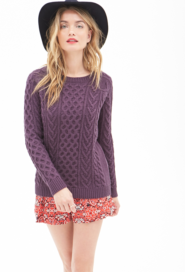 Forever 21 Contemporary Classic Cable Knit Sweater Where To Buy