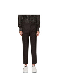 Dolce and Gabbana Purple And Black Wool Jacquard Camouflage Trousers