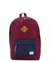 Dark Purple Canvas Backpack