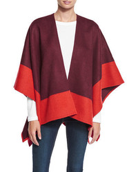 Rag & Bone Double Face Colorblock Merino Wool Wrap