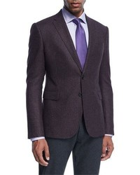 Dark Purple Check Blazer