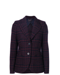 Odeeh Checked Single Breasted Blazer