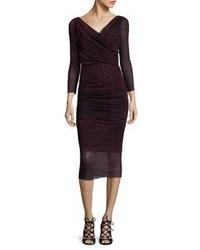 Fuzzi Check Print Bodycon Dress