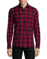 Dark Purple Check Long Sleeve Shirt
