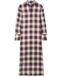 Elizabeth and James Badgley Checked Cotton Maxi Dress