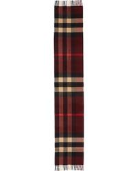 Burberry Cashmere Mega Check Scarf Claret