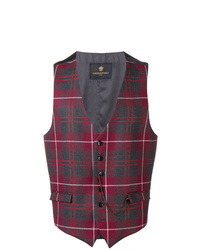 Lords And Fools Checked Waistcoat