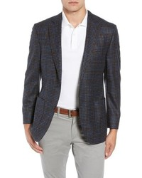Kroon Bono 2 Classic Fit Check Wool Cashmere Sport Coat