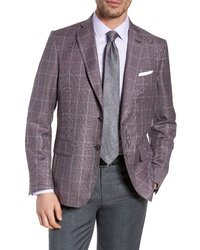 John W. Nordstrom Traditional Fit Windowpane Wool Sport Coat