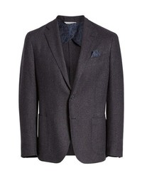 Culturata Trim Fit Check Wool Blend Sport Coat
