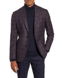 Nordstrom Signature Trim Fit Windowpane Wool Sport Coat
