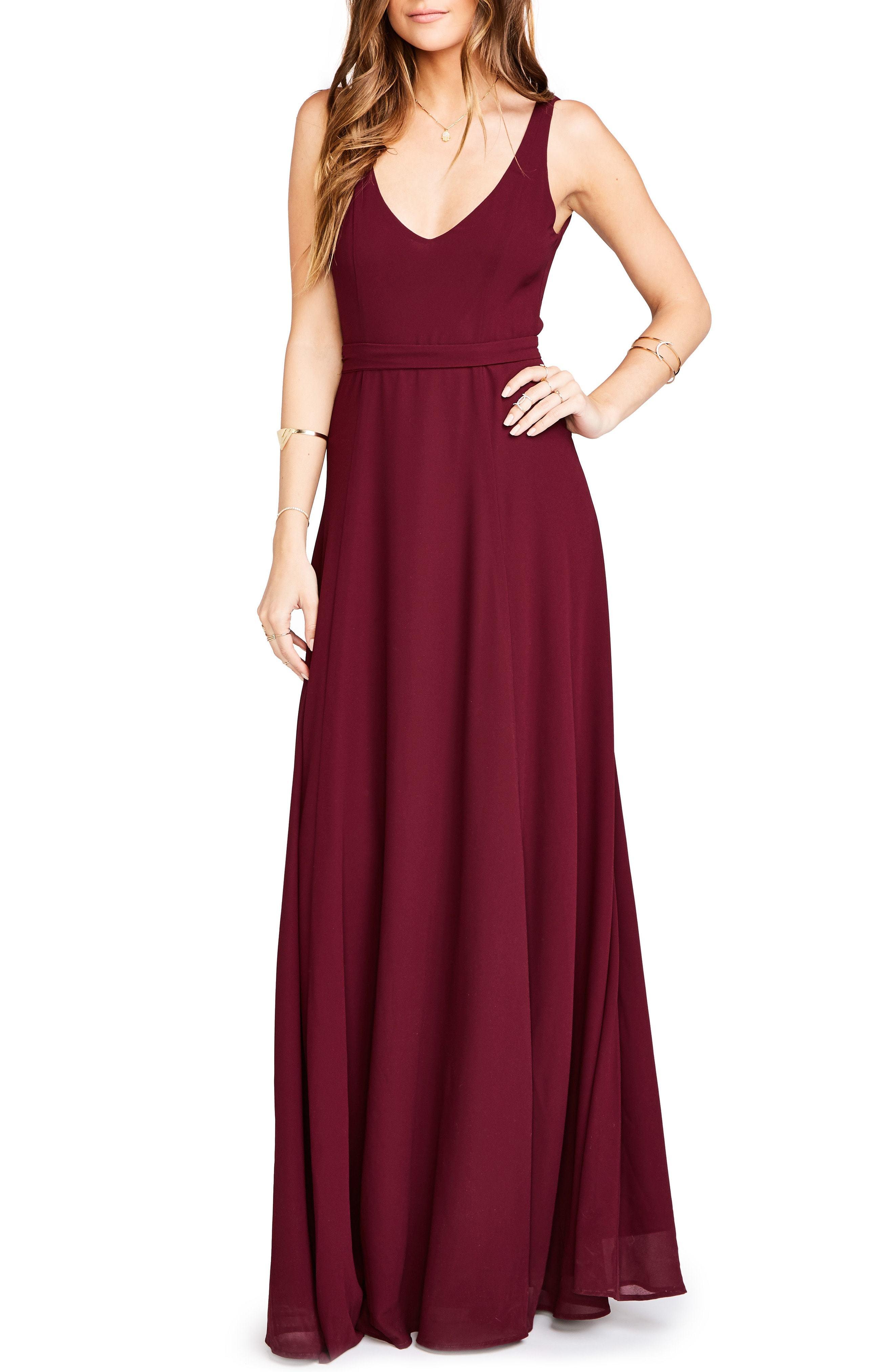 8e49bff7f46 Jen Maxi Gown. Dark Purple Chiffon Evening Dress by Show Me Your Mumu
