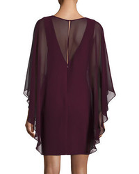 Halston Heritage Chiffon Overlay Shift Dress
