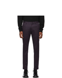 Paul Smith Purple Cotton Stretch Chino Trousers