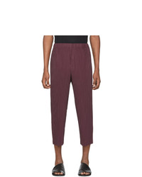 Homme Plissé Issey Miyake Purple Mc December Trousers