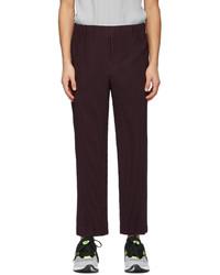 Homme Plissé Issey Miyake Purple Tailored Pleats 1 Trousers