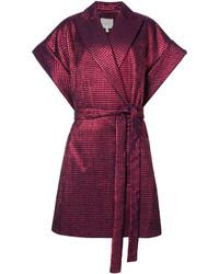 DELPOZO Belted Shortsleeved Coat