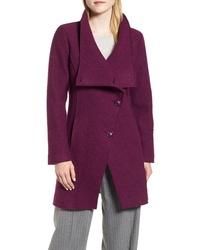 Halogen Boiled Wool Blend Asymmetrical Coat