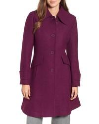 Halogen Boiled Wool Blend Fit Flare Coat