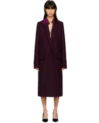 Haider Ackermann Burgundy Stomer Coat