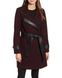 Badgley Mischka Faux Wool Blend Coat