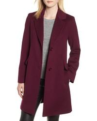 Fleurette Notch Collar Wool Coat
