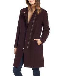 Marc New York Single Breasted Melton Coat