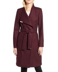 Ted Baker London Wool Blend Long Wrap Coat